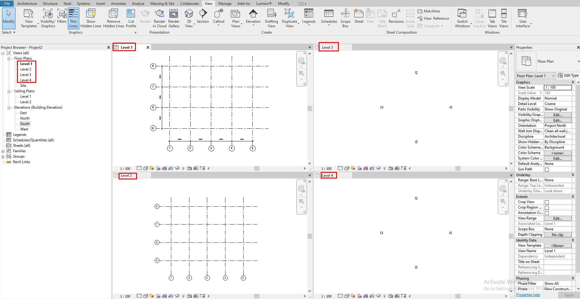 Sửa lưới trục khi không nhìn thấy trên mặt bằng sàn 2
